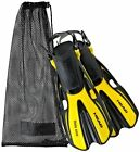 Head Snorkeling Swim Fin With Mesh Carry Bag
