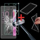 Clear TPU Case Cover +Tempered Glass Screen Protector For Sony Xperia XA Ultra
