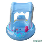 With Wheel Baby Kid Child Swim Ring Inflatable Float Seat Boat Pool Fun