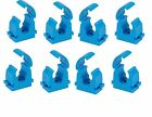 8 new blue mdpe clips, choose 20mm, 25mm, 32mm size.
