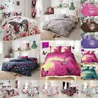 Butterfly Print Duvet Cover Set King Size Double Super Single Luxury Bedding New