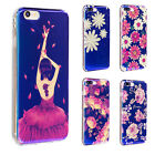Ultra Thin Classic Blue Pattern Soft TPU Case Cover For iPhone SE 5 6 6s Plus 7