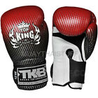 """Top King Muay Thai Boxing Gloves Super Star """"Air"""" Red Leather Training Fighting"""