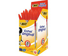 New Bic Cristal RED Biro Pen 1.0mm CHOOSE FROM MENU *UK SELLER* Free Postage!