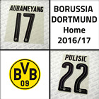 Borussia Dortmund 2016-17 home, official printings, name sets