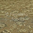 Raised Textured Floral Pattern Grey Cream Chenille Upholstery And Curtain Fabric