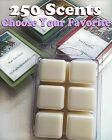 Wax Tart Melts 3.2 oz Breakaway Bar Clamshell 6 Cubes Chunks 250 Scents
