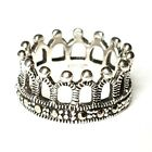 (SIZE 6,7,8) MARCASITE CROWN RING Medieval Vintage Style .925 STERLING SILVER