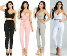 Sexy Women's Crop Top Bralet And Jogger Pants set S M L