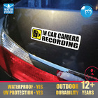 In Car Camera Recording Sticker CCTV Sign Dash Cam on Board Video Bumper Decal