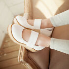 Women's Wedge Heels Platform Strap Round Toe Mary Janes Casual Shoes Plus Size