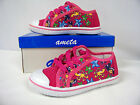 New Toddler Girl Canvas Low -Top Athletic Shoe (Fushia - Sealife )