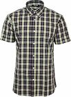 Relco Mens Black Yellow Check Short Sleeved Shirt Mod Skin Retro Indie 60s 70s