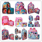 Little Girls School Backpack Lunch Box Set Large Cartoon Book Bag Kids Children