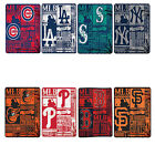 New Baseball League Teams Fleece Throw Blanket Collection 50'' x 60'' Northwest on Ebay