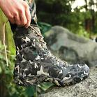 Mens Boots Riding Hiking Camo Military Waterproof Camo Lace Up High Top Shoes SZ