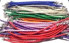 Lot of Colored Leather braided bracelet - Various colors available