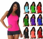 Womens Long Racer Back Bodycon Muscle Vest Top Ladies Sleeveless Gym Sports Wear