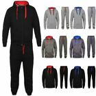 New Mens Tracksuit Fleece Set Plain Bottoms Jogging Gym Hoodie Zip Joggers Top