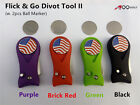 A99 Golf New Flick & Go Divot Tool II, Pitch Switchblade Golfer Kit