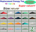 Replacement Top Polyester Cover For 10x10 Ez Pop Up Canop...