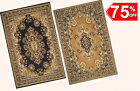 5x7 Area Rug Traditional Oriental Persian Design Medallion Black & Beige NEW