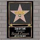 Personalised Hollywood Star Walk of Fame Birthday Poster Banner Print N166