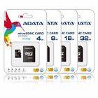 ADATA 4GB 8GB 16GB 32GB Micro SD SDHC Class 4 TF Flash Memory Card Adapter Lot