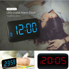 JUNJIADA LED Digital Alarm Clock Voice Control Time Display for Home Office Hot
