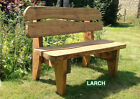 Garden Bench Hand Made solid Welsh Larch Various Sizes