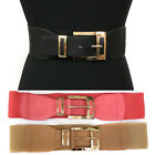 Bling WOMEN ELASTIC Stretch Gold Metal WAIST Wide BELT Western Fashion S M L XL