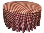 10 packs 120 inch Gingham Checkered Tablecloths Buffalo P...