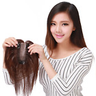 Handmade PU Mono Real Human Hair Top Pieces Clip in Toppers for Thinning Hair