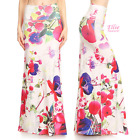Floral off-white Sublimation high waist maxi long skirt (S/M/L/XL/1XL/2XL/3XL)