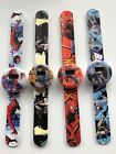 1x Children Kid Boy Batman Spiderman Super Hero Slap On Snap Wrist Watch Gift