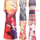 Floral Watercolor Sublimation high waist maxi long skirt (S/M/L/XL/1XL/2XL/3XL)