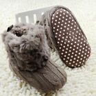 Warm First Walkers Baby Ankle Snow Boots Infant Crochet Knit Fleece Baby Shoes