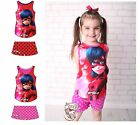 Ladybug T-shirt and shorts Miraculous T-shirt and shorts Licensed  3-8 years old