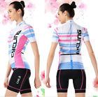 5 Style Women Cycling Bicycle Short Sleeve Outdoor Sport Suit Set Jersey Shorts