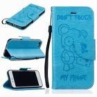 Luxury Flip Leather Wallet Cards Stand Case Cover with Strap for iPhone& Samsung