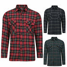 MENS SHIRT NEW FLANNEL BRUSHED COTTON  LUMBERJACK CHECK LONG SLEEVE WORK SHIRTS