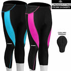 Women Ladies Cycling 3/4 Tights Shorts Padded Leggings with Coolmax Anti Bac Pad