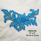 Purple FLOWER Boho Sequined Iron-on Cosplay Patch Floral Embroidered Applique