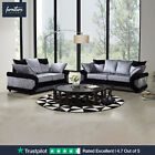 Dino velvet sofa set 3+2+1 suite couch settee Black Silver sofas 50% OFF RRP