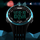 Fashion Men Boy Women Digital Sports Quartz LED DATE Waterproof Army Wrist Watch image