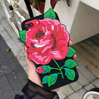 3D Rose Flower Soft Silicone Phone Back Case Cover Skin For iPhone 6 6s 7 / Plus