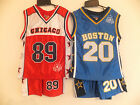 BNWT Boys American Football  T-Shirt & Shorts  Sports Outfit Red , Blue AGE 2-12