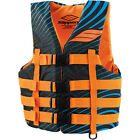 New Mens Guys Slippery Hydro Nylon Vest Life Jacket PWC Jet Ski Orange XS-4X