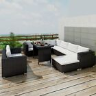 Outdoor Sectional Furniture Wicker Patio Rattan Sofa Set Deck Couch Black Brown