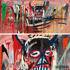 "50W""x24H"" UNTITLED 1982 MASK by JEAN-MICHEL BASQUIAT Repro - CHOICES of CANVAS"